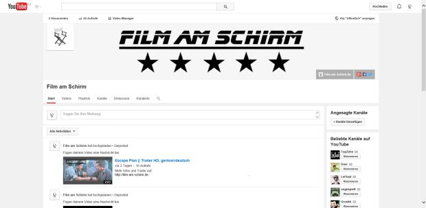 YouTube-Kanal von Film-am-Schirm.de