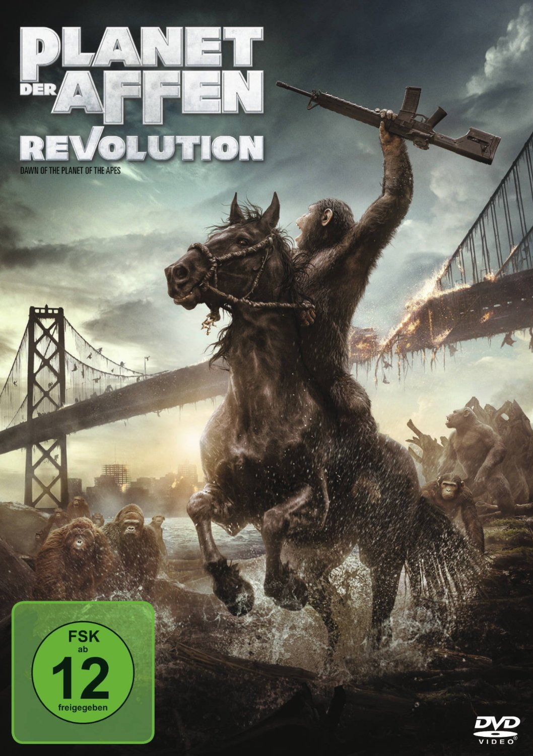 DVD-Cover von Planet der Affen: Revolution