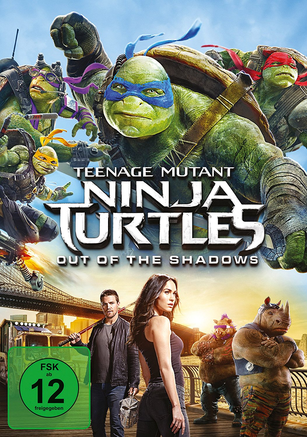 DVD-Cover von Teenage Mutant Ninja Turtles: Out of the Shadows